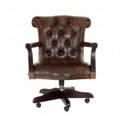 Kancelářská židle Chesterfield z pravé kůže II Chesterfield Křesla MHKZCHES02