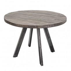 Kulatý jídelní stůl z mangového dřeva Metal IV Metal Jídelní stoly MH39585MET