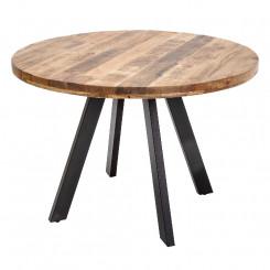 Kulatý jídelní stůl z mangového dřeva Metal III Metal Jídelní stoly MH39584MET