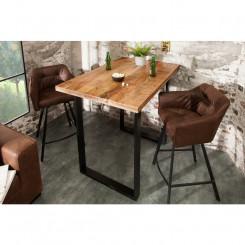 Barový stolek z mangového dřeva Metal I Metal Barové stolky MH38668MET