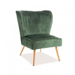 Moderní židle z textilu New York IV New York Křesla MHNYLEG01-ZEL