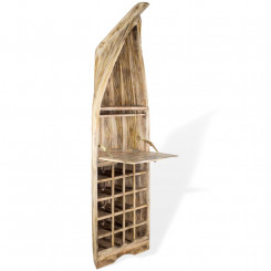 Masivní vinotéka z teakového dřeva Leonardo Leonardo Stojany na víno MHLEO98028