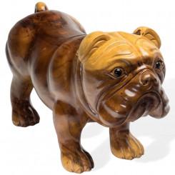 Dekorační pes z teakového...