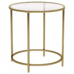 Kulatý boční stolek s tvrzeným sklem Vintage Vintage Odkládací stolky LGT20G