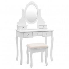 Toaletní stolek s otočným zrcadlem Laura Laura Konzolové stolky RDT09W