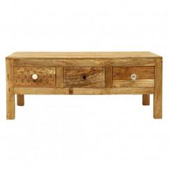 Konferenční stolek z masivního mangového dřeva se 3 zásuvkami Massive Home Ella, délka 110 cm Ella Konferenční stolky ELL011