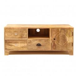 TV stolek z masivního mangového dřeva se 3 zásuvkami Massive Home Ella Ella TV stolky a komody ELL014