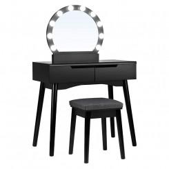 Toaletní stolek černý Laura I Laura Konzolové stolky RDT11BL