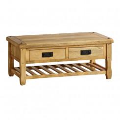Konferenční stolek z mangového dřeva se 2 zásuvkami Massive Home Patna Patna Konferenční stolky MER012