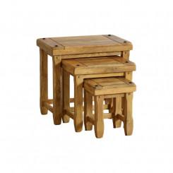 Sada 3 odkládacích stolků z mangového dřeva Massive Home Patna Patna Odkládací stolky MER034