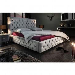 Luxusní dvoulůžková postel šedá Sanel 180 x 200 cm  Postele MH399920