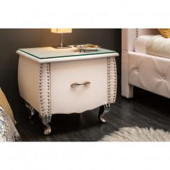 Luxusní noční stolek bílý...