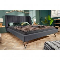 Luxusní postel s kovovými nohami šedá Sanel 160 x 200 cm  Postele MH407630