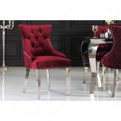 Sametová jídelní židle,...