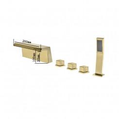 Designová vanová baterie, vanový set z mosazu Zoe I - Zlatá Zoe Koupelnové baterie MHM5045GNWI