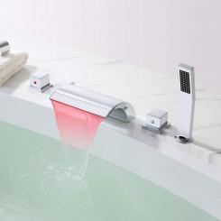 Vanová baterie, set z mosazu Zoe - LED Chrom Zoe Koupelnové baterie MHM5051CL