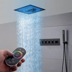 Luxusní stropní vodopádová sprcha s LED indikátorem teploty vody Zoe - Černá Zoe Koupelnové baterie M6324CI