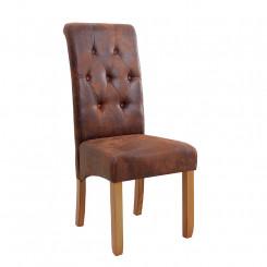 Hnědá židle Cambridge sada 2 kusů Chesterfield Light Nábytek MH372920