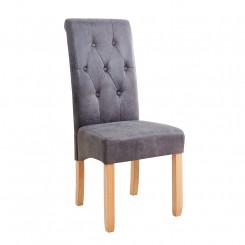 Šedá židle Cambridge sada 2 kusů Chesterfield Light Nábytek MH372930
