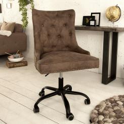 Kancelářská židle Cambridge hnědá Chesterfield Light Jídelní židle MH387930