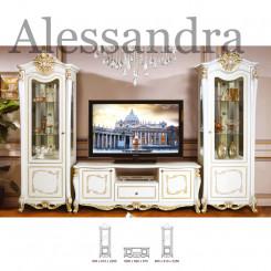 Starožitná obývací stěna Alessandra  Ložnice MHDIA-013