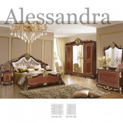 Hnědá ložnicová sestava Alessandra  Ložnice MHDIA-012