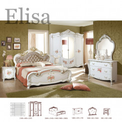 Viktoriánská ložnicová sestava Elisa  Ložnice MHDIA-015