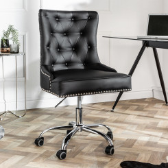 Kancelářská židle Cambridge černá Chesterfield Light Jídelní židle MH393460