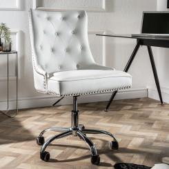 Kancelářská židle Cambridge bílá Chesterfield Light Jídelní židle MH393470
