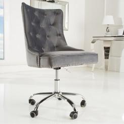 Kancelářská židle Cambridge šedá Chesterfield Light Jídelní židle MH387910