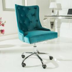 Kancelářská židle Cambridge tyrkysová Chesterfield Light Jídelní židle MH387920