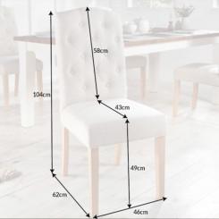 Béžová židle Oxford - sada 2 kusů Chesterfield Light Domů MH400700