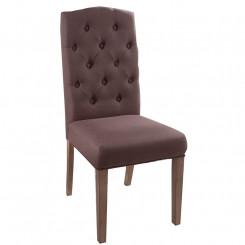 Hnědá židle Oxford - sada 2 kusů Chesterfield Light Domů MH400720
