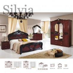 Přepychová hnědočerná ložnice Silvia  Ložnice MHDIA-024