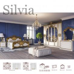 Přepychová zlatobílá ložnice Silvia  Ložnice MHDIA-022
