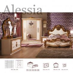 Luxusní zlatá ložnicová sestava Alessia  Ložnice MHDIA-018