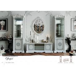 Bílá luxusní obývací stěna Sara  Ložnice MHDIA-025