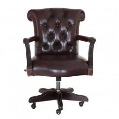 Kancelářská židle červená Chesterfield II Chesterfield Kancelářské židle MHKZCHES05