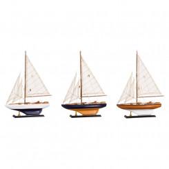Dřevěný model plachetnice 30x43 Verona Dekorace MH66298I
