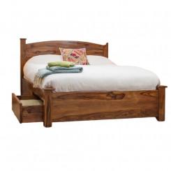 Dřevěná postel s úložným prostorem Massive Home Irma I Irma Postele SCT125