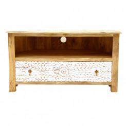 Rohový TV stolek z masivního mangového dřeva Massive Home Sweet Sweet TV stolky a komody SWT015