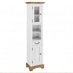 Vysoká koupelnová skříňka Tanganika bílá  Koupelnové skříňky MH614W