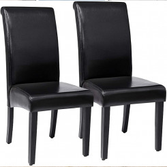 Černá židle Alex 2 kusy Alex Jídelní židle MHLDC21B