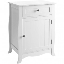 Bílý noční stolek Laura