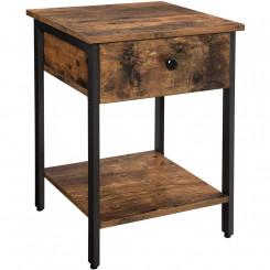 Noční stolek hnědý Vintage I Vintage Noční stolky LET55BX