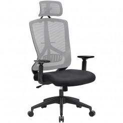 Šedá kancelářská židle...