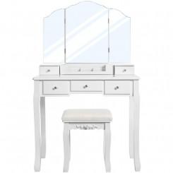 Toaletní stolek se stoličkou Laura II Laura Konzolové stolky MHRDT28WT