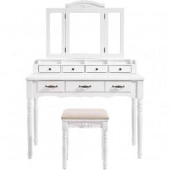 Toaletní stolek se stoličkou Laura I Laura Konzolové stolky MHRDT60WT