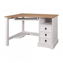 Psací stůl rohový VALENCIA bílý vosk Valencia Pracovní a psací stoly 88195B