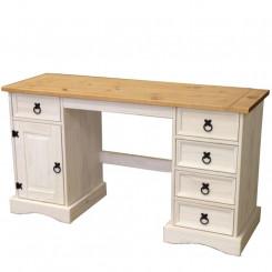 Psací stůl VALENCIA bílý vosk 16334B Valencia Pracovní a psací stoly 16334B